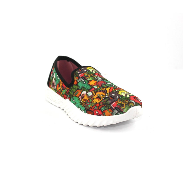 Canvas Slip On Printed  Shoes FOR  Women  - Multicolour 4