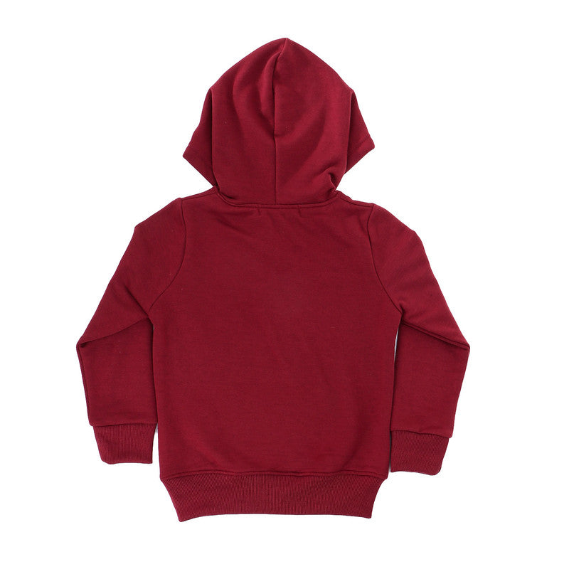 boys back in my day slip on hoodie - maroon