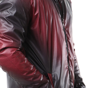 Fashionable Zipper Jacket - Red