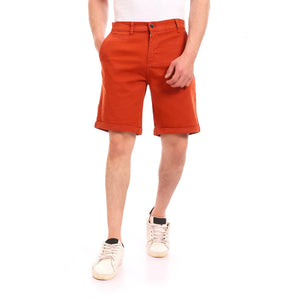 Regular Fit Gabardine Summer Short - Cinnamon