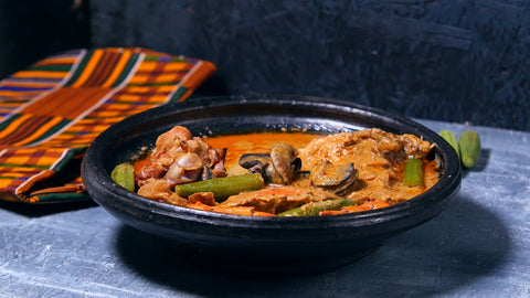 Kokonte and Peanut Butter Soup AfricanChow