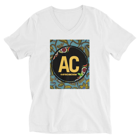 AC Ankara Unisex Short Sleeve V-Neck T-Shirt