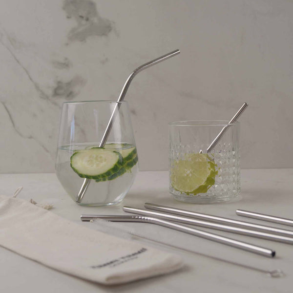 Yummii Yummii 6 PCS. Reusable Straws Mixed Reusable Straws Stainless Steel 18/8