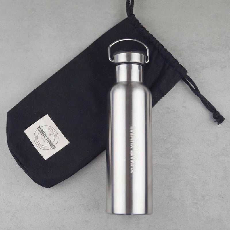 Yummii Yummii Thermo Bottle Medium 600 ml - Black Thermo Bottles Stainless Steel 18/8