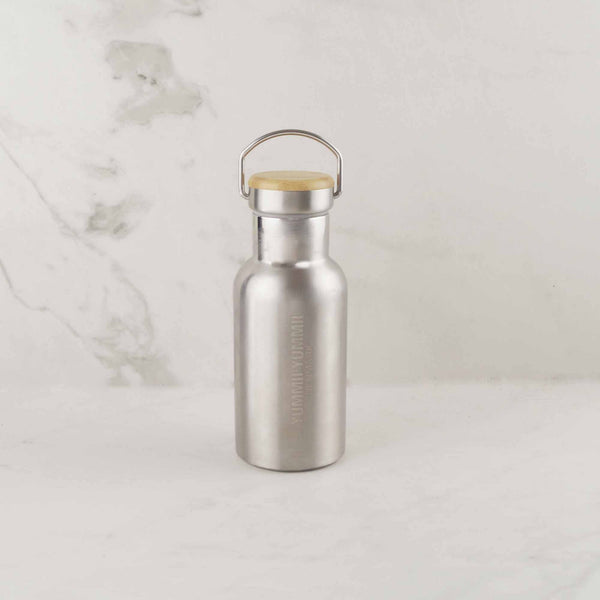Yummii Yummii Thermo Bottle 350 ml Bamboo Lid Thermo Bottles Stainless Steel 18/8