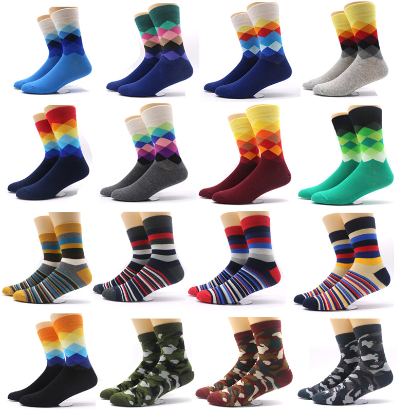 1Pair Fashion Men's Sock Winter Warm Male Crew Socks Meias Masculinas