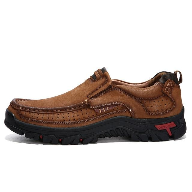 Pro Comfort Brown Waterproof Leather Shoes