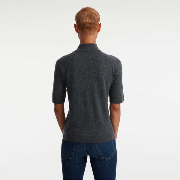 CALIFORNIA CASHMERE ELBOW MOCK