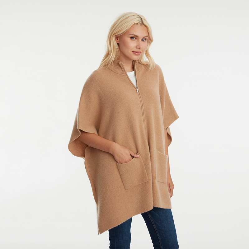 THE ZIP DOUBLE KNIT PONCHO