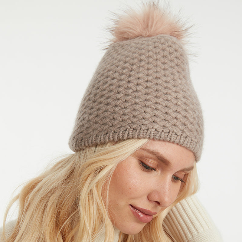 THE HANDKNIT POM POM HAT