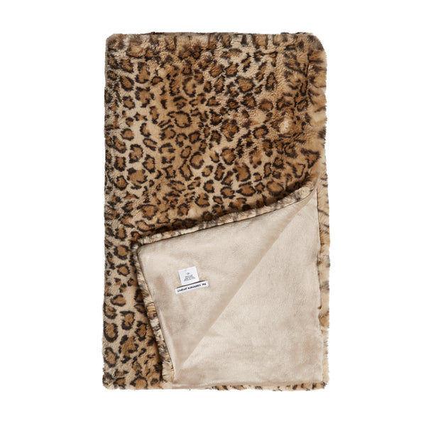 THE LEOPARD FAUX FUR THROW