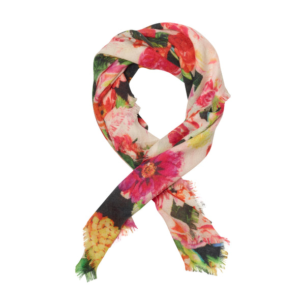THE MULTI FLORAL SMALL SQUARE SCARF