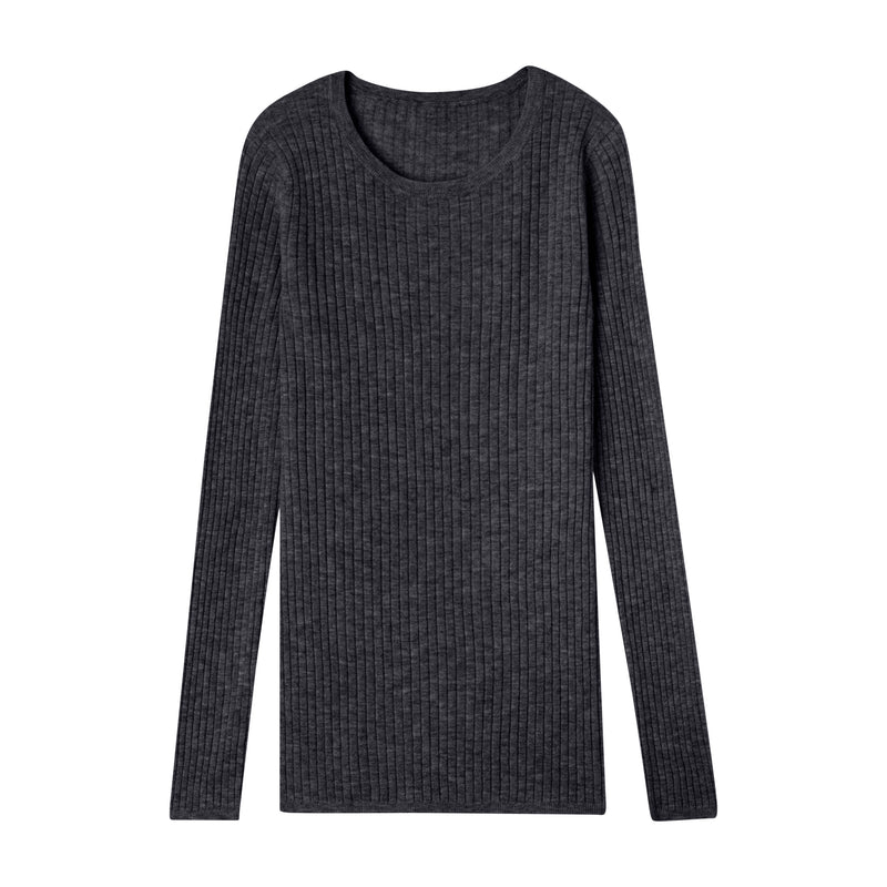 CALIFORNIA CASHMERE RIBBED CREW