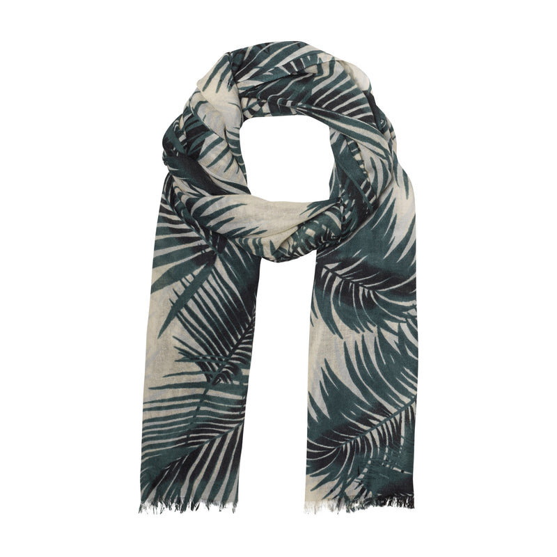 THE PALM LEAF OBLONG SCARF