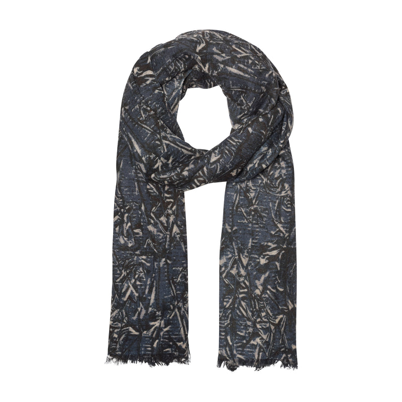 THE ABSTRACT LEAVES OBLONG SCARF