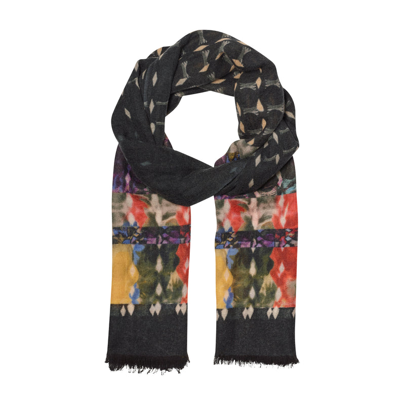 THE DIAMOND FLORAL OBLONG SCARF