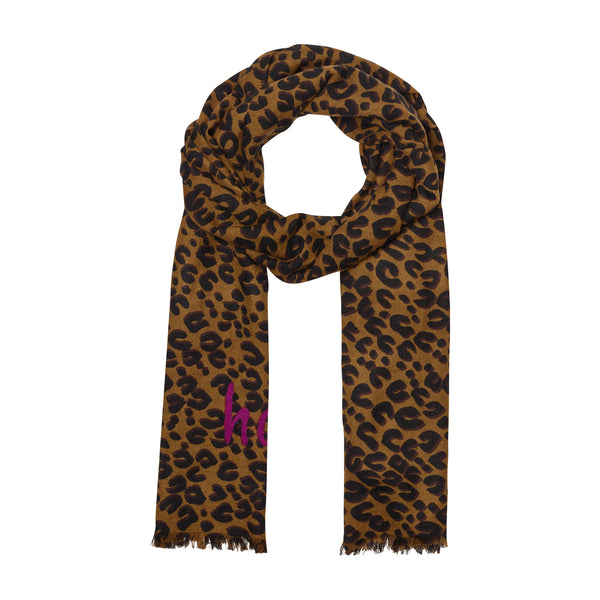 THE HAPPINESS LEOPARD OBLONG SCARF