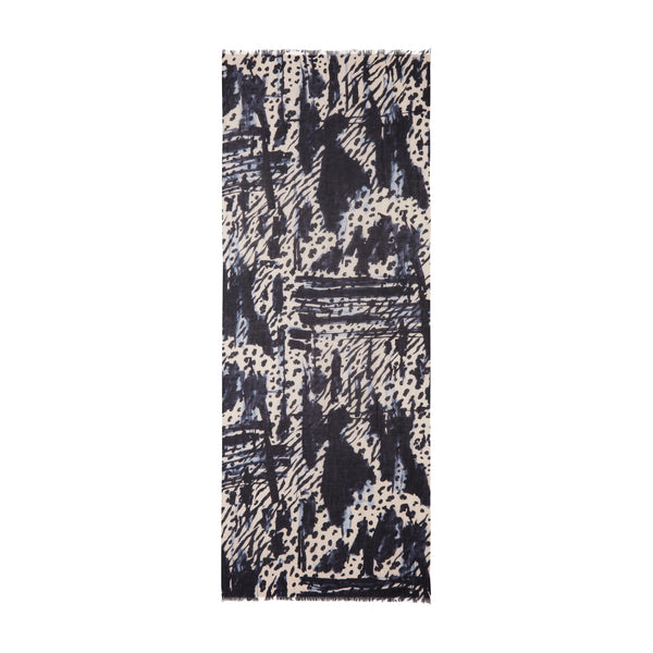 THE BRUSH STROKE OBLONG SCARF