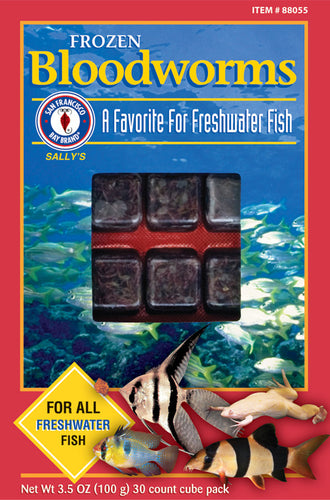 San Fransisco Frozen Bloodworms Cubes 3.5oz