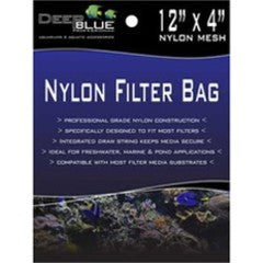 Deep Blue Nylon Filter Bag 12 x 4