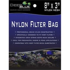 Deep Blue Nylon Filter Bag 8 x 3