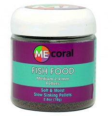 ME Coral Fish Pellets 2.8 oz Medium 2.4mm