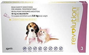 Revolution Flea Treatment Drop for Puppy/Kitten, 3 Count, Pink