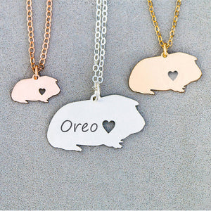 Guinea pig necklace with your personal name inscription