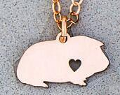 Load image into Gallery viewer, Guinea pig necklace with your personal name inscription