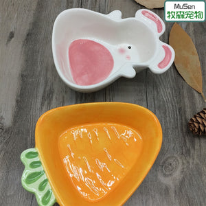 Cute ceramic bowls - to brighten your cage