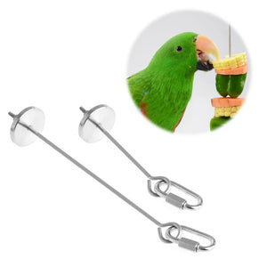 Fruit skewer for holding piggie food fruit