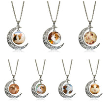 Load image into Gallery viewer, Pretty girls pendant with moon decoration