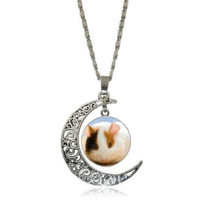 Pretty girls pendant with moon decoration