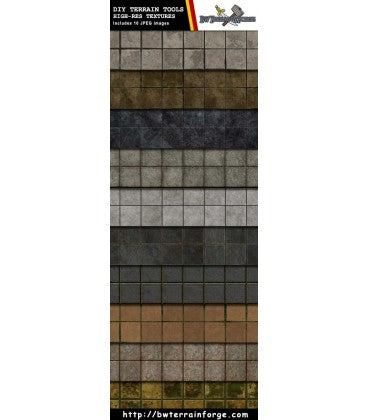 Digital Forge: DIY Designs - Stone Tiles Ver 1 - bw-terrain-forge