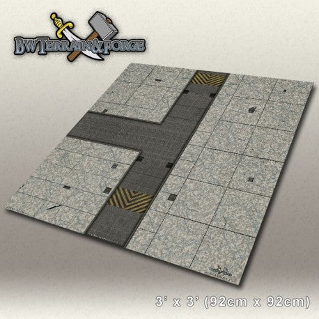 Forge Mats: Alpha Base One (Gray Variant) - bw-terrain-forge