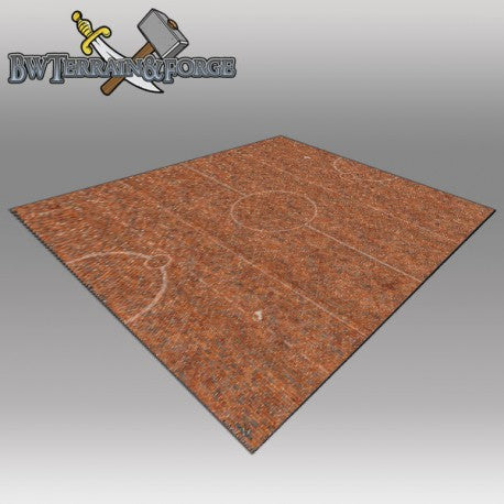 Forge Mats: Brick Yard Pitch 36 x 36 for Guild Ball - bw-terrain-forge