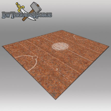 Forge Mats: Brick Yard Pitch with Logo 36 x 36 for Guild Ball - bw-terrain-forge