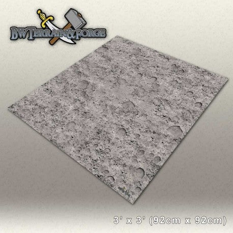 Forge Mats: Cratered Moon - bw-terrain-forge