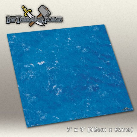 Forge Mats: Deep Blue Ocean - Open Water Themed Gaming Mat - bw-terrain-forge