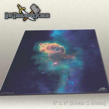 Forge Mats: Encounter At Nebula LV-2463 - space themed gaming mat - bw-terrain-forge