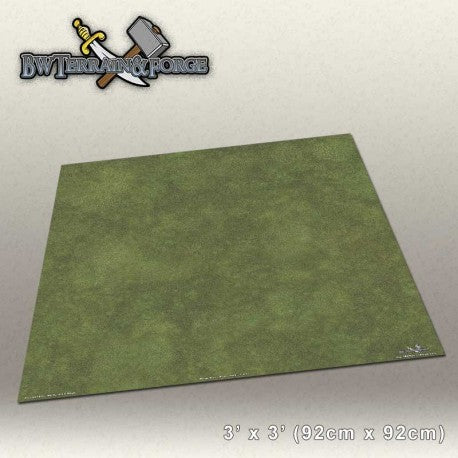 Forge Mats: Grass Field - Green Grass Themed Gaming Mat - bw-terrain-forge