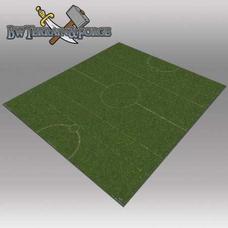 Forge Mats: Grass Land Pitch 36 x 36 for Guild Ball - bw-terrain-forge