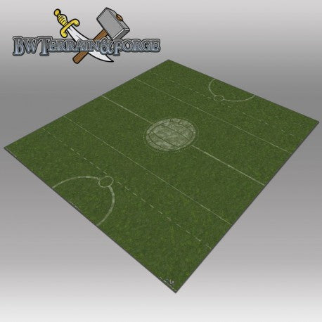 Forge Mats: Grass Land Pitch with Logo 36 x 36 for Guild Ball - bw-terrain-forge