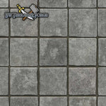 Forge Mats: Gray Stone Tiles - Cobblestone Themed Gaming Mat - bw-terrain-forge