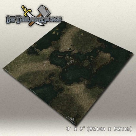 Forge Mats: Swamp Land - Swamp / Ruins Themed Game Mat - bw-terrain-forge