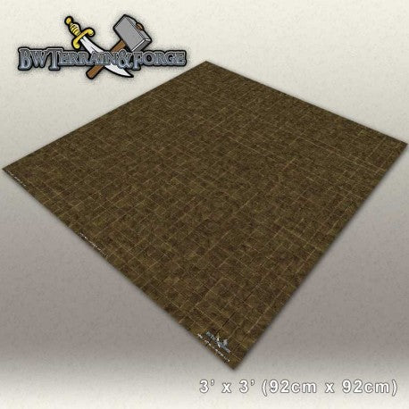 Forge Mats: Tan Stone Tiles - bw-terrain-forge