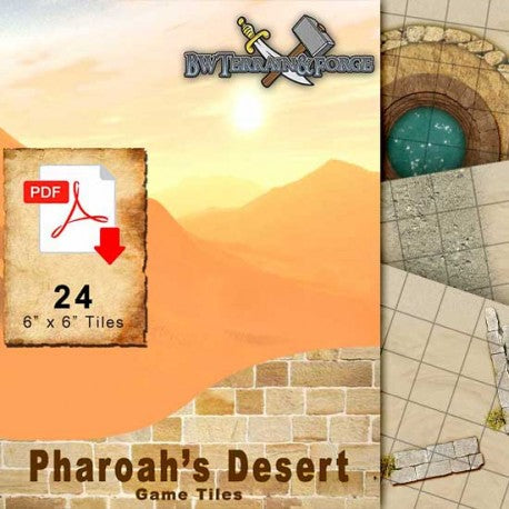 Digital Forge: Pharaoh's Desert : Ancient Desert Themed Modular Terrain Tiles - bw-terrain-forge