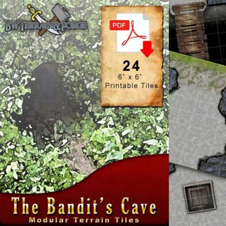 Digital Forge: The Bandit's Cave - Modular Terrain Tiles - bw-terrain-forge