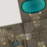 Digital Forge: Warlord's Dungeon - Castle Dungeon Themed Modular Terrain Tiles - bw-terrain-forge