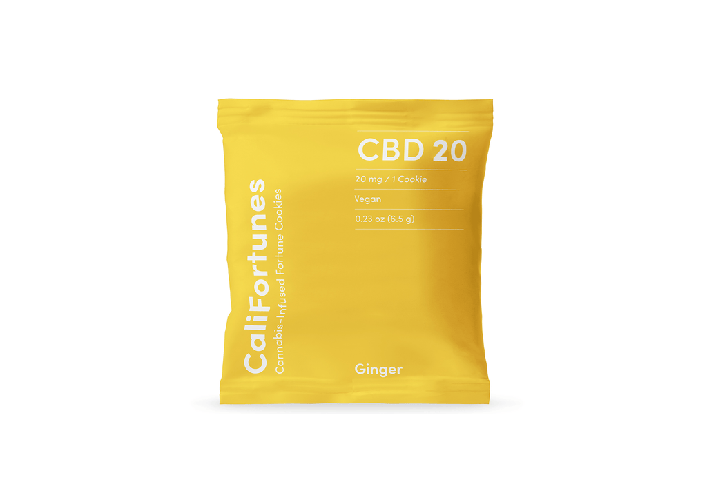 CaliFortunes 240mg CBD Ginger Cookie Bag